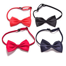 Boy Kid Children Toddler Infant Solid Bowtie Pre Tied Wedding Bow Tie Necktie