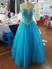 new Fashion Women Crystal Party Dress Prom Dress Lace Up Back Formal Ball Gowns