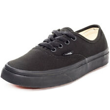 Vans Authentic Unisex Trainers Black Black New Shoes