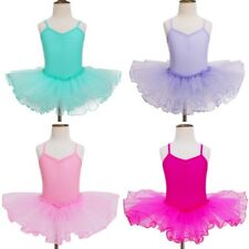 Girls Gymnastics Ballet Dress Leotard Tutu Skirt Princess Dressup Party Costume