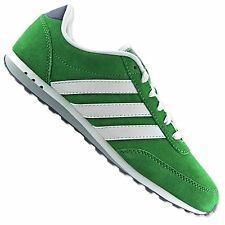 ADIDAS V RACER LEA NEO SNEAKER SHOE GREEN WHITE Q38930 SUEDE TRAINERS