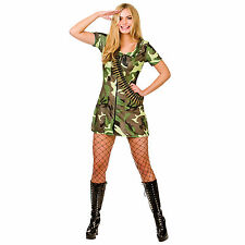 Ladies Sexy Army Girl Fancy Dress Up Party Role Play Halloweeen Costume Outfit
