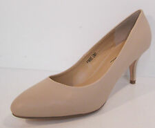 F9695- Ladies Anne Michelle Nude Wet PU Court Shoes. SIZES- 3X8