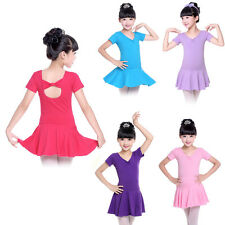Toddler Kid Child Ballet Dance Leotards Dress Girls Gymnastics Skating Dancewear