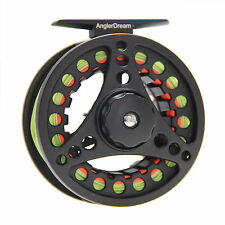 Fly Reel Combo 5/6/7/8WT Large Arbor Aluminum Fishing Reel & Fly Line & Backing