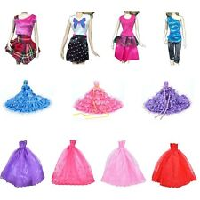 New Barbie Doll Fashion Handmade Clothes Dress Different Style For Kids Cute QW