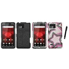 For Motorola Droid Bionic XT875 Diamond Diamante Rhinestone Case Stylus Pen