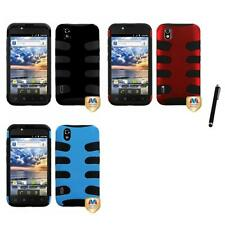 For LG Optimus Black P970 Hybrid IMPACT Hard Soft Rugged Armor Case Stylus Pen