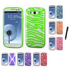 For Samsung Galaxy S3 TPU Hard Case Skin Phone Cover Stylus Pen
