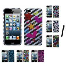 For Apple iPhone 5/5S/SE Design Snap-On Hard Case Phone Skin Cover Stylus Pen