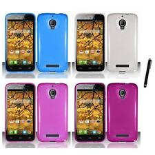 For Alcatel One Touch Fierce 7024W TPU Rubber Case Phone Cover Stylus Pen