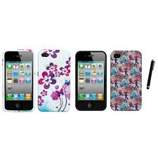For Apple iPhone 4/4S TPU Design Case Phone Cover Stylus Pen