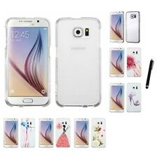 For Samsung Galaxy S6 Crystal Hard Snap-On Transparent Case Cover Stylus Pen