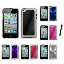For Apple iPod Touch 4th Gen Aluminum Armor Cosmo Slim Hard Case Stylus Pen