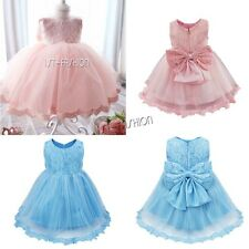 Flower Girl Dress Infant Baby Princess Wedding Bridesmaid Pageant Party Dress