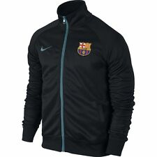 NIKE FC BARCELONA CORE TRAINER JACKET Black/Light Blue.