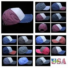 Baseball Cap Washed Distressed Caps Plain Hat Brushed Cotton Casual Hats Unisex