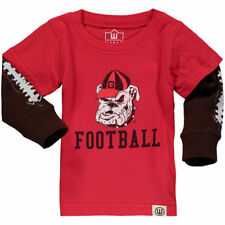 Wes & Willy Georgia Bulldogs Infant Red Football Fooler Long Sleeve T-Shirt