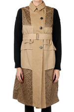 DRIES VAN NOTEN Woman Biege Sleeveless Cotton Coat New with tags and Original