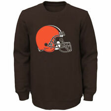 Cleveland Browns Youth Brown Prime Fleece Crew Pullover Sweatshirt