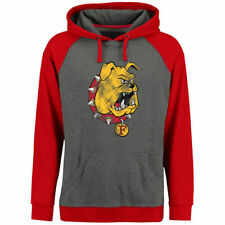 Ferris State Bulldogs Ash/Red Classic Primary Pullover Hoodie - College