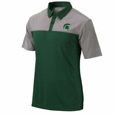 Columbia Golf Michigan State Spartans Green/Gray Front Nine Omni-Wick Polo