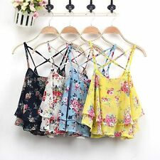 Stylish Women Summer Floral Vest Top Sleeveless Casual Tank Blouse Tops T-Shirt
