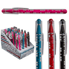 PUZZLE MAZE PEN 15CM GAME CHALLENGE NOVELTY TOY GIFT WRITING BALL POINT FUN NEW