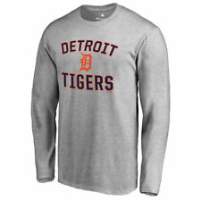 Detroit Tigers Ash Victory Arch Long Sleeve T-Shirt