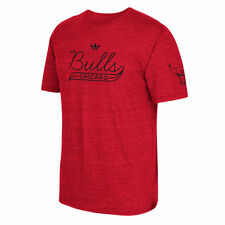 adidas Chicago Bulls Red Retro Fit Tri-Blend T-Shirt