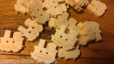 10 25 Or 50 Natural Wood Train Buttons 18mm Kids Nursery  1