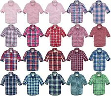ABERCROMBIE & FITCH MENS WOVEN SHIRT LONG SLEEVE BUTTON DOWN UP PLAID CHECKS A&F