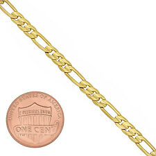 4mm 14k Gold Plated Flat Figaro Link Chain