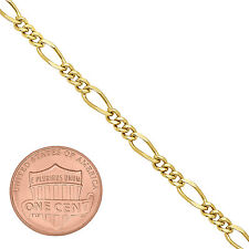 3mm 24K Gold Plated Miami Figaro Link Chain