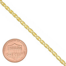 2.3mm 24K Gold Plated Fancy Mariner Link Chain