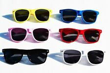 NEW NWT COLOR RETRO black Lens WAYFARAR SUNGLASSES 80s Vintage Optical Quality