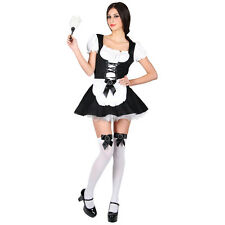 Flirty French Maid Ladies Role Play Fancy Dress Costume