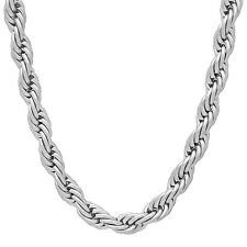 6mm Durable Stainless Steel Rounded French Rope Chain Necklace