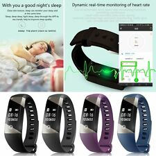 Bluetooth Smart Watch Heart Rate Pedometer Sleep Monitor Tracker for Android iOS