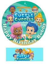 Bubble Guppies Personalized Edible Cake toppers 7 Inch cupcakes Precut