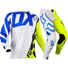 FOX RACING 360 CREO (WHITE/YELLOW) JERSEY/PANT COMBO MOTOCROSS ATV UTV