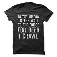 For Beer I Crawl - Funny T-Shirt Short Sleeve 100% Cotton NEW