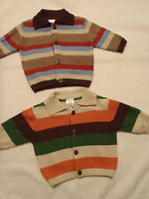 Gymboree 0 3 6-12 Month Top Dog or Little Tractor Co Choice Stripe Sweater NWT