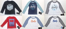 Hurley Toddler Boys Long Sleeve T-Shirts Various Styles Sizes 2T, 3T or 4T NWT