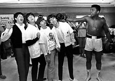 Art print POSTER The Beatles and Muhammed Ali Boxing Music