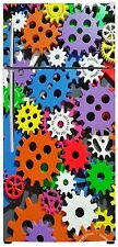 Cogs Fridge Wrap Refrigerator Fridge Freezer Stickers Decal Vinyl Wraps