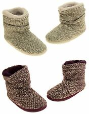 Ladies Coolers Warm Knitted Winter Fur Lined  Slipper Boots Size 3 4 5 6 7 8