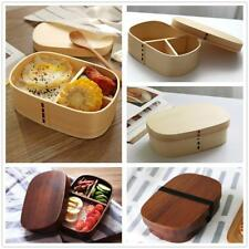 Japanese Style Lunch Box Wooden Bento Box Sushi Snack Picnic Food Container Case