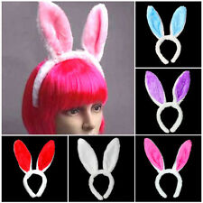 Easter Bunny Ears Rabbit Fluffy Headband Hairband Party Favor Gift Fancy Accs