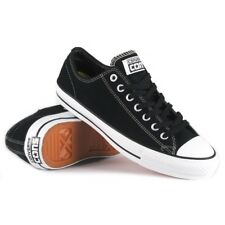 CONVERSE CTAS PRO OX LOW BLACK WHITE MENS SUEDE SKATEBOARD SHOES SNEAKERS